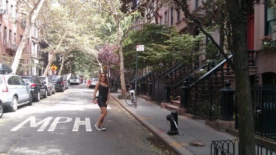 A walk around Greenwich Village and Washington Square Park. New York.