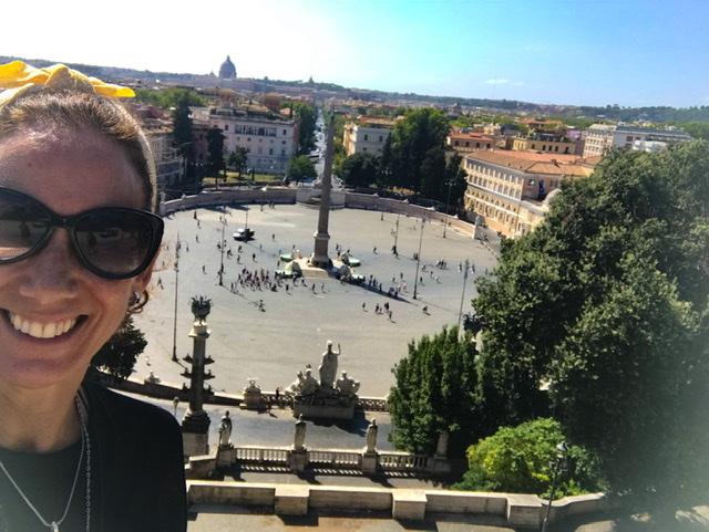 Berniniando por Repubblica, Quirinale y Popolo. Roma.