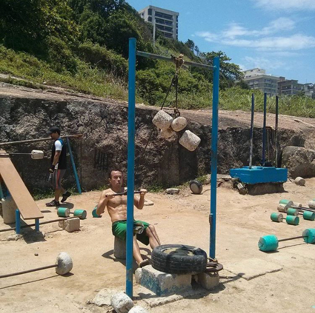 Picturesque gym in Ipanema