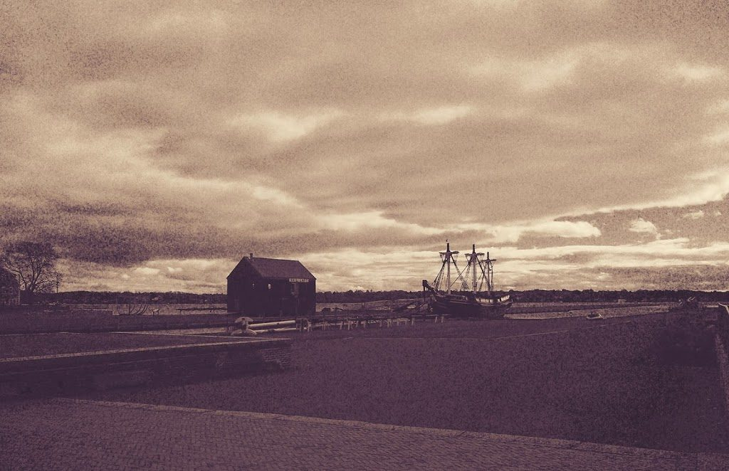 A cousin of the Mayflower stuck in the past. Salem, Massachusetts.