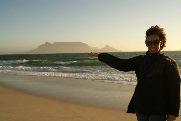 Table Mountain on my hand. By Craig Heldsinger